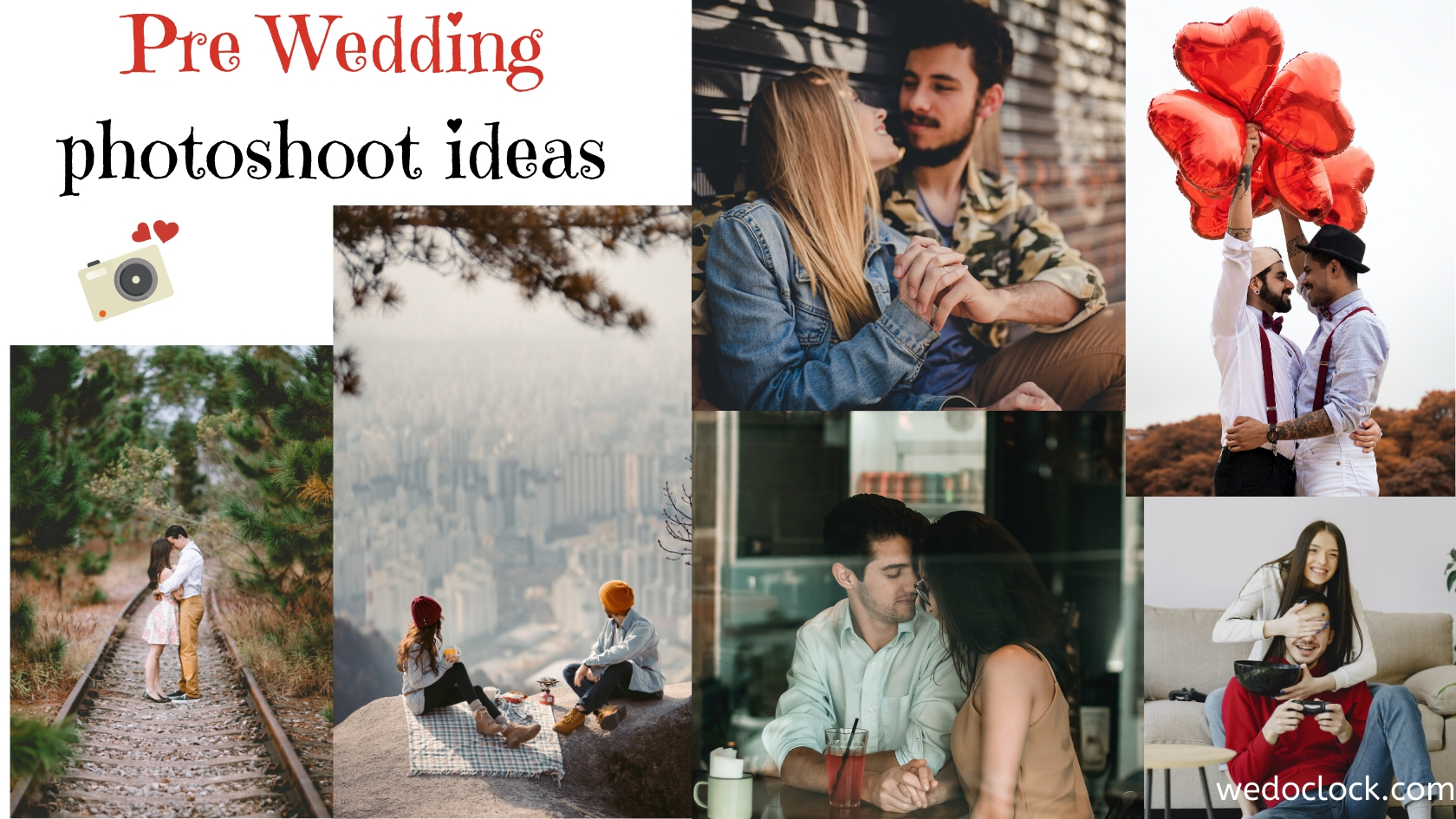 Pre Wedding Photoshoot Ideas Wed O Clock